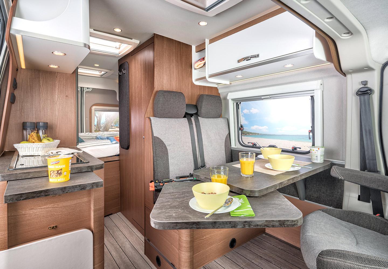 Der neue Kastenwagen CaraBus   Interieur und Stoffe