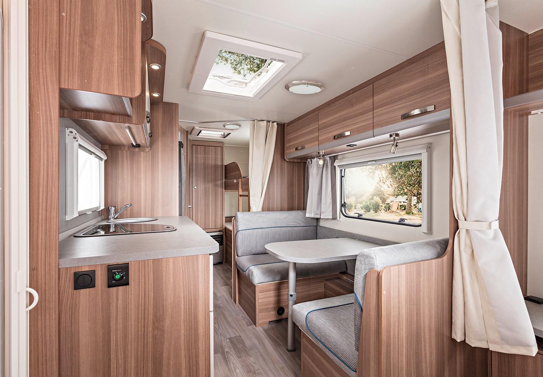 Der neue wohnwagen caraone interieur und stoffe