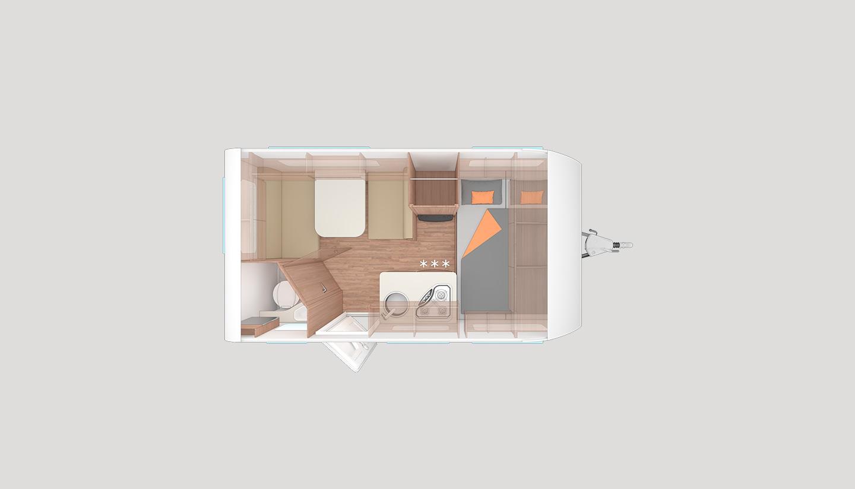 Wohnwagen Etagenbett Grundriss : Wohnwagen caraone qd serienausstattung